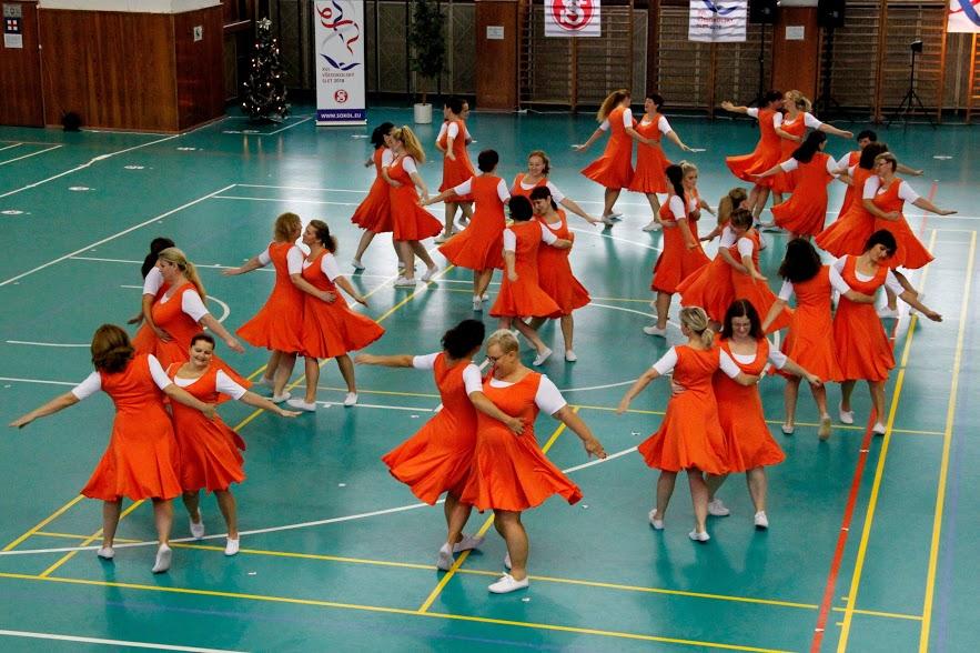 Sokolské akademie ve sportovní hale za účasti všech oddílů