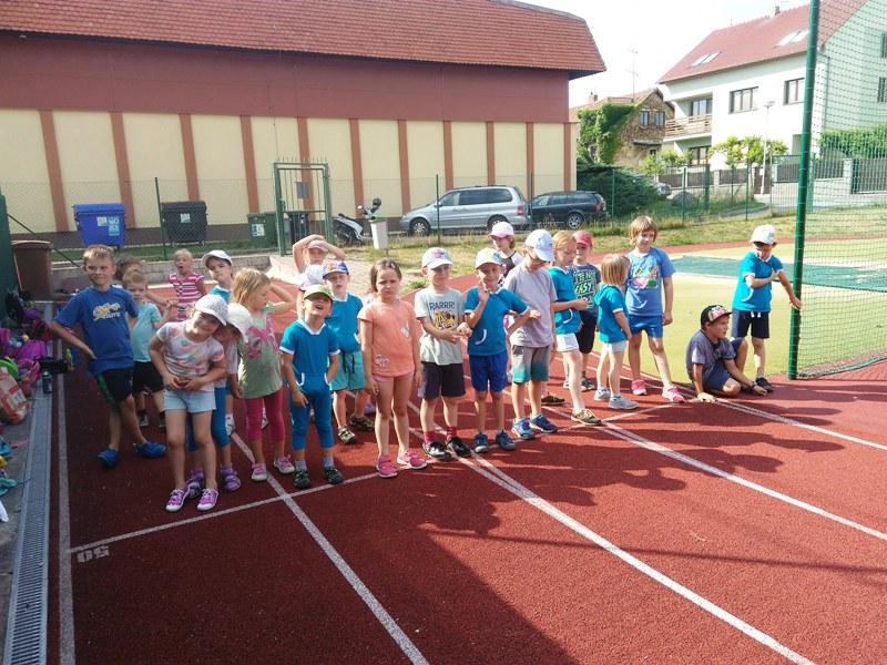 Předškolní děti zakončení cvičebního roku