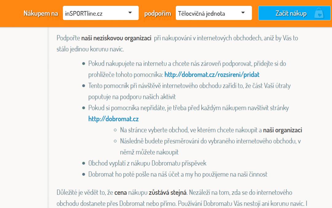 Podpořte činnost Sokola Tišnov